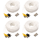 100FT BNC Male Cable with 2 Female Connectors - (4) Pack