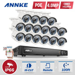 ANNKE 16ch HD PoE Security Camera System with 16X 4.0MP Camera