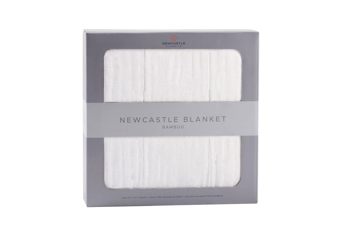 Newcastle Classics - Pure White Bamboo Newcastle Blanket