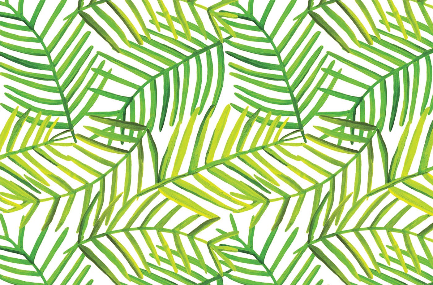 Lucy Grymes Designs - Green Leaf Paper Placemat Pad