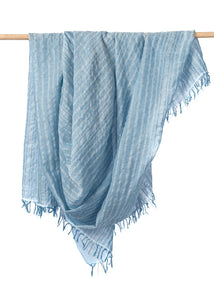 Bloom & Give - Blue Leher Scarf