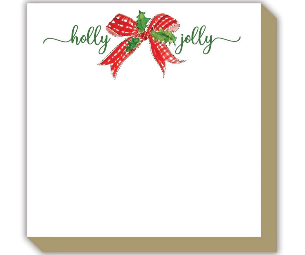 Luxe Notepad - Holly Jolly