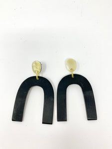 Black Horn Earring