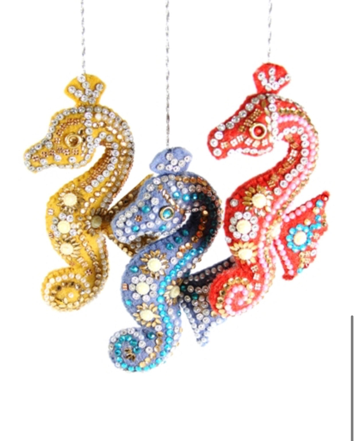 Bedazzled Seahorse Ornament