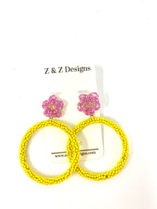 Flower Beaded Earring