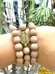 Brass Taupe Stack
