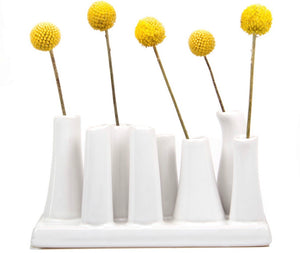 8 Tube White budvase