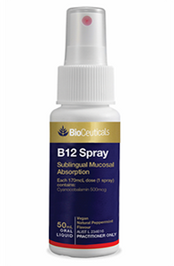 B12 Sublingual Mucosal Absorption Spray