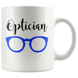Shnazzy 'Optician' with blue glasses mug