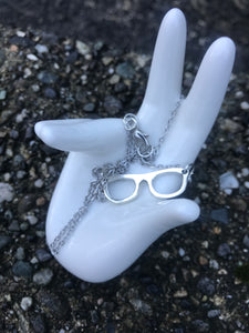LIMITED QUANTITY! - Small Silver Glasses Necklace - SMALL BUSINESS SATURDAY -