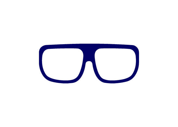 Navy blue wrap glasses decal