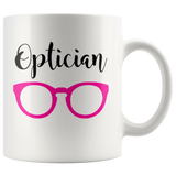 Shnazzy 'Optician' with pink glasses mug