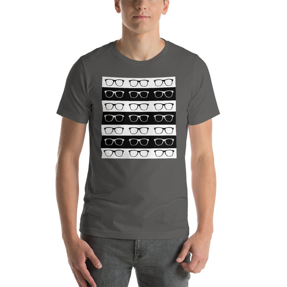 Striped Short-Sleeve Unisex T-Shirt