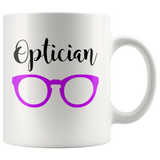 Shnazzy 'Optician' with purple glasses mug