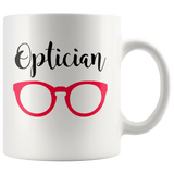 Shnazzy 'Optician' with red glasses mug