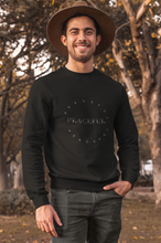 Load image into Gallery viewer, Peaceful Sweater, Inspirational Sweatshirt, Positive Quote Shirt For Women, Gift For Men Unisex Sweater