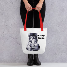 Load image into Gallery viewer, Cat Mom Tote, Gift to Mom, Pet Lover tote, Cat tote, Cat Mama Tote, Cat Lover Gift Tote bag
