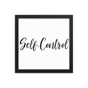 Wall Decor Art Gift Framed poster, Self Control