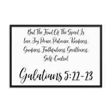Load image into Gallery viewer, Wall Decor Art Gift Framed poster, Fruit of the Spirit Galatians 5