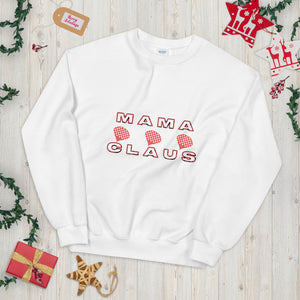 Mama Claus Sweatshirt, Mama Claus Christmas Sweater, Funny Mom Sweater, Christmas Sweater For Mom, Mom Life, Funny Holiday Sweater, Great Gift For Mom, Christmas Sweatshirt For Mom