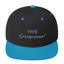Load image into Gallery viewer, 100% Entrepreneur (Snapback Hat) - E2 Express