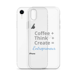 Coffee Think Create iPhone X Case