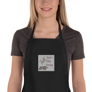 Fall Into My Arms Embroidered Apron