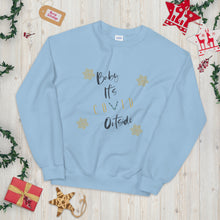 Load image into Gallery viewer, Baby It's Covid Outside Unisex Sweatshirt, Ugly Christmas Sweater, Funny Ugly Sweater(s), Matching Couples Christmas Sweatshirt(s), 2020 Quarantine Sweater(s), Covid Christmas Sweater