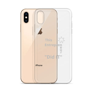 This Entrepreneur Did IT iPhone X Case - E2 Express