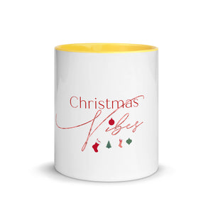 Christmas Vibes Mug with Color Inside, Great Christmas Gift, Gift For Christmas, Holiday Season, Good Vibes, Holiday Fun, Pillow Talk, Christmas