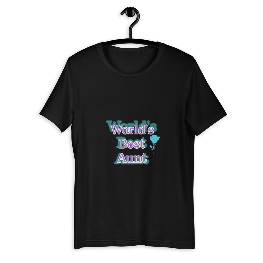 World's Best Aunt Unisex T-Shirt, Best Aunt Ever, Aunt Gift, Aunt Tshirt, Aunt Shirt, Gift For Aunt, Aunt Outfit, Favorite Aunt, My Aunt Rocks
