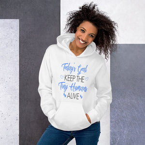 Mommy Goals For Tiny Humans Hooded Sweatshirt - E2 Express