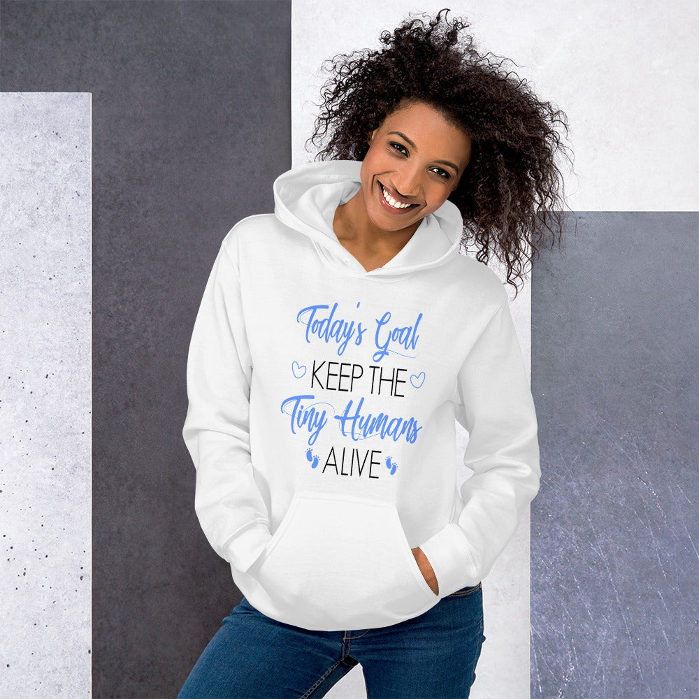 Mommy Goals For Tiny Humans Hooded Sweatshirt