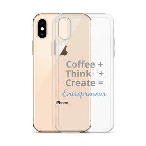 Coffee Think Create iPhone X Case - E2 Express