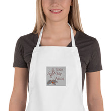 Load image into Gallery viewer, Fall Into My Arms Embroidered Apron