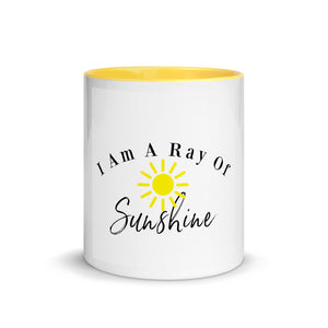 Christmas Gift Idea, Birthday Gift Idea, I Am A Ray Of Sunshine Mug with Color Inside, Bestfriend Gift, Christmas Gift For Mom, Wife, Sister, Brother, Husband