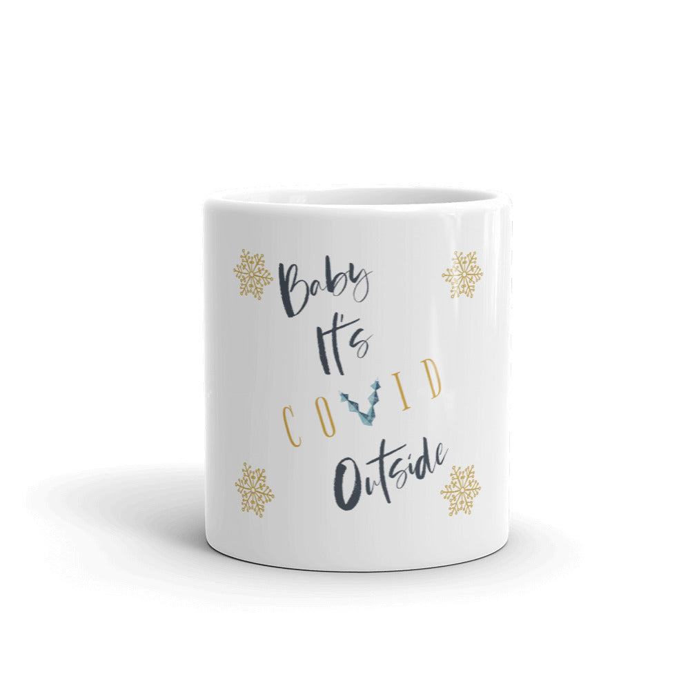 Baby It's Covid Outside Mug, Ugly Mug, Funny Mugs, Couples Christmas Mug, 2020 Quarantine Mug, Covid Christmas Mug, Mugdom