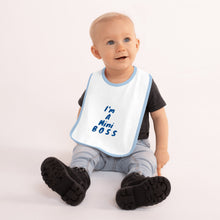 Load image into Gallery viewer, Mini Boss Embroidered Baby Bib
