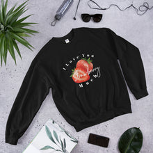 Load image into Gallery viewer, Valentines Day Love Sweater, I Love You Strawberry Much Unisex Sweatshirt, Love Sweater Gift