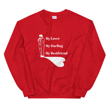 Load image into Gallery viewer, Valentine Gift For Her, Valentine Sweater Gift, Couple Gift, My Lover My Darling My Bestfriend Unisex Sweatshirt