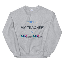 Load image into Gallery viewer, Wonder Woman, Teacher Gifts, Women DC Heroes, Inspiration DC, Women Sweater, Gift For Her, Quarantine Teacher, Distance Teaching Gift, Quarantine Teaching 2020, Teacher Appreciation Gift, Professor Gift, Teacher Wonder Woman, Thank You Teachers
