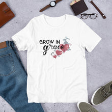 Load image into Gallery viewer, Grow in grace, Faith over fear t-shirt, Faith t-shirt Short-Sleeve Unisex T-Shirt
