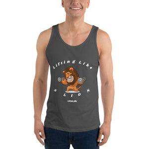 Funny Workout Tank For Him Gift For Her Unisex Tank Top Lifting Like A Lion Fit Life Lifestyle Gym Fanatic
