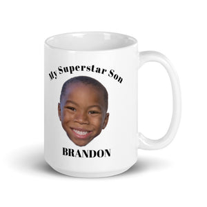Child Photo Gift, Mug For Mom or Dad, Personalized Gift, Customized coffee drinkware, 15oz Birthday Gift, My Son Is A Superstar Personalized Mug Gift For Her