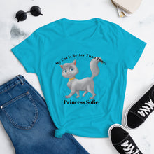Load image into Gallery viewer, Personalized Tshirt, Cat Tshirt, Cat Lady Tshirt, Funny Cat Tee, Women's short sleeve t-shirt