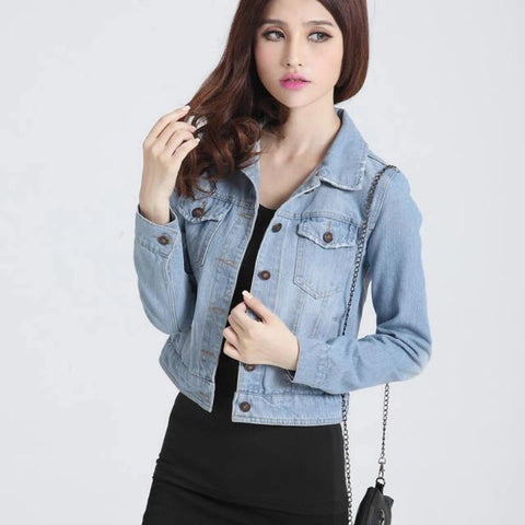 SHORT STYLE DENIM JACKET