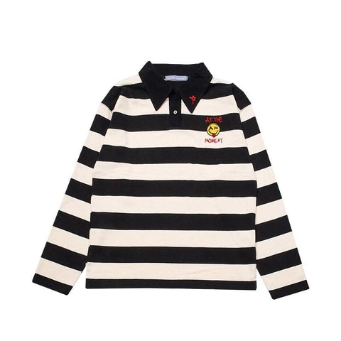 EMBROIDERED STRIPED SWEATSHIRT