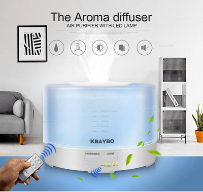 air purifier with led lamp blue