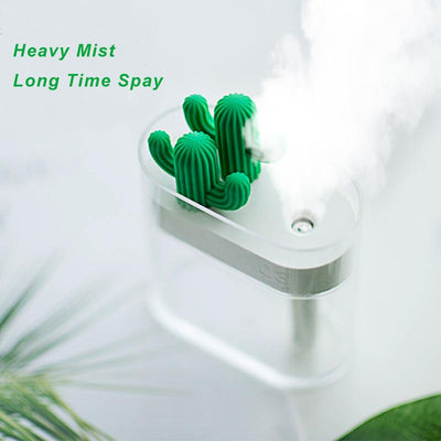 Clear Cactus Air Humidifier Running with fog