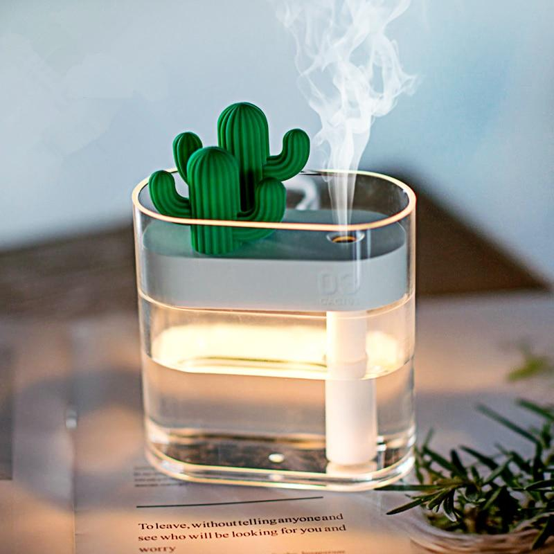 Clear Cactus Ultrasonic Air Humidifier 160ML